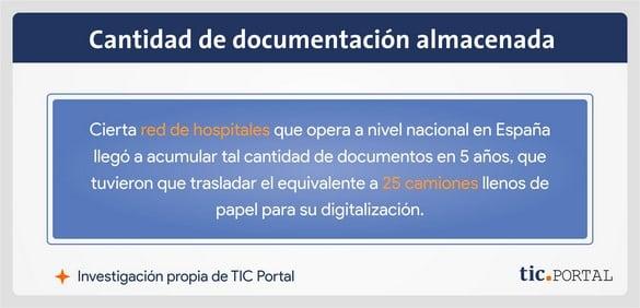 documentos acumulados hospitales