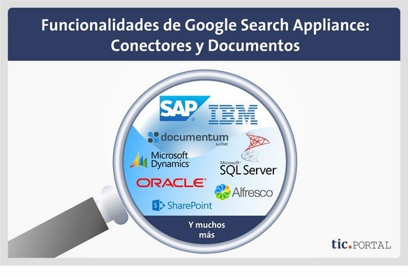 funcionalidades google search appliance conectores tipos archivo