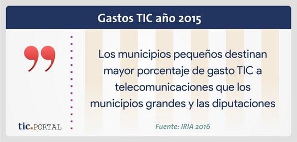 gasto tic 2015 administración pública