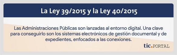 ley 39 2015 ley 40 2015 gestión documental expedientes