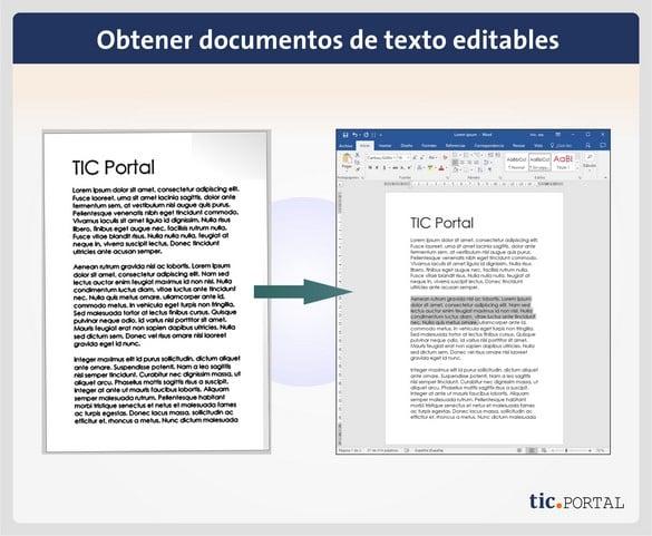 Ocr Convertir Documentos Físicos En Archivos Editables