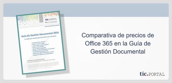 office 365 comparativa planes precios
