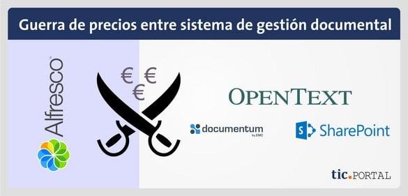 precio alfresco comparado documentum sharepoint opentext