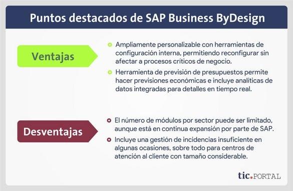 sap business bydesign ventajas desventajas